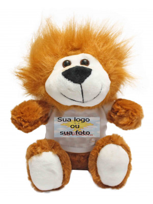 Kit com 10 Bichinhos do Safari com Camiseta Personalizada - ALT: 20 cm x LARG: 17 cm