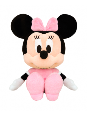 Minnie Big Head P com Vestido Rosa- Alt: 25 x Larg: 8cm